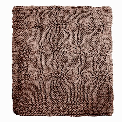 Gwenyth Throw Color: Walnut Brown