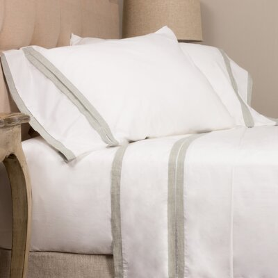 Banded Pillow Case Size: King
