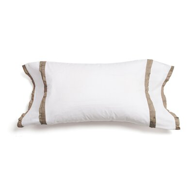Dainty Ruffle 100% Cotton Lumbar Pillow Color: Natural