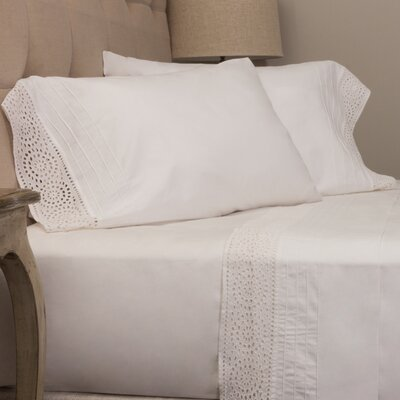 Eyelet Pillow Case Size: King