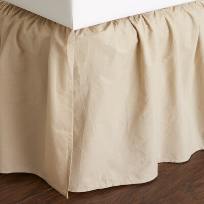 Brighton 160 Thread Count Bed Skirt Size: Queen, Color: Khaki