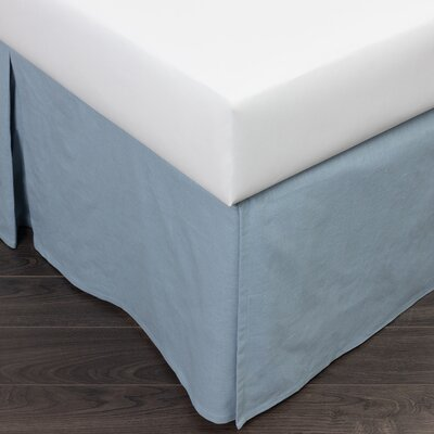 Paige 180 Thread Count Bed Skirt Size: Queen, Color: Blue