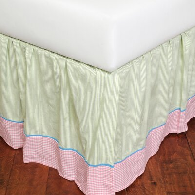 May Gingham 180 Thread Count Bed Skirt