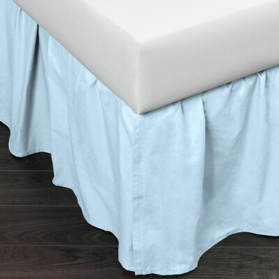Brighton 160 Thread Count Bed Skirt Size: Twin, Color: Blue
