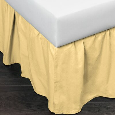 Brighton 160 Thread Count Bed Skirt Size: Twin, Color: Yellow