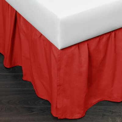 Brighton 160 Thread Count Bed Skirt Size: Twin, Color: Red