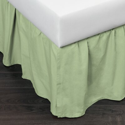 Brighton 160 Thread Count Bed Skirt Size: Twin, Color: Green