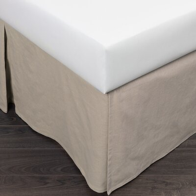 Paige 280 Thread Count Bed Skirt Size: Queen, Color: Khaki