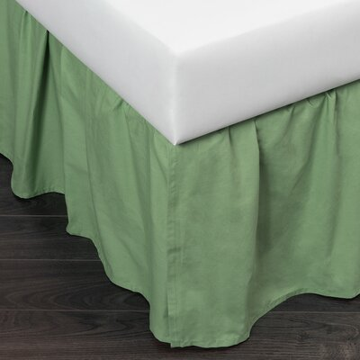 Brighton 280 Thread Count Bed Skirt Size: Twin, Color: Apple Green