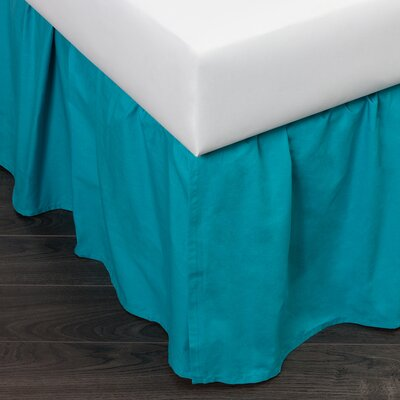 Brighton 280 Thread Count Bed Skirt Size: Twin, Color: Teal