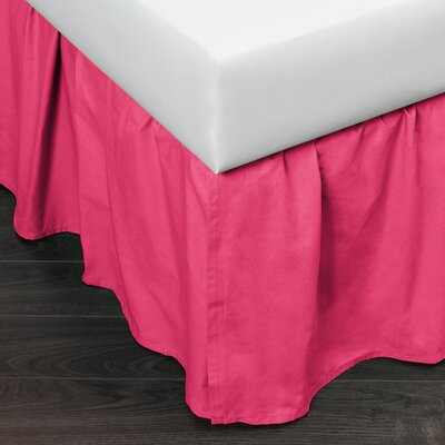 Brighton 160 Thread Count Bed Skirt Size: King, Color: Pink