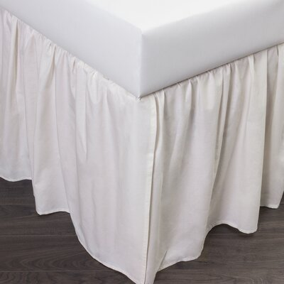 Brighton 160 Thread Count Bed Skirt Size: Queen, Color: Ivory