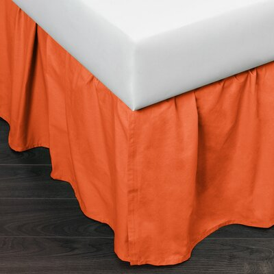 Brighton 160 Thread Count Bed Skirt Color: Orange, Size: Queen