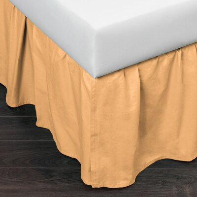 Brighton 160 Thread Count Bed Skirt Size: Twin, Color: Golden Yellow