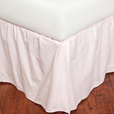 Bubble Gum Gingham 180 Thread Count Bed Skirt