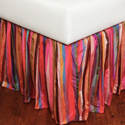 Stripe 180 Thread Count Bed Skirt Size: Twin