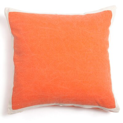 Connor Cotton Throw Pillow Color: Orange