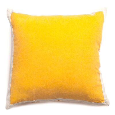 Connor Cotton Throw Pillow Color: Yellow