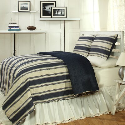 Camden Quilt Size: King, Color: Blue