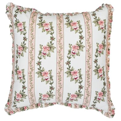 Antoinette Ruffled Cotton Throw Pillow Color: Blue
