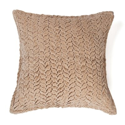 Allie 100% Cotton Velvet Throw Pillow Color: Khaki