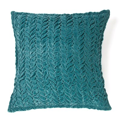 Allie 100% Cotton Velvet Throw Pillow Color: Teal