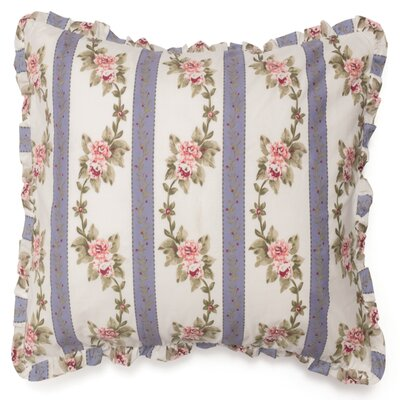 Annabelle 100% Cotton Throw Pillow Color: Blue