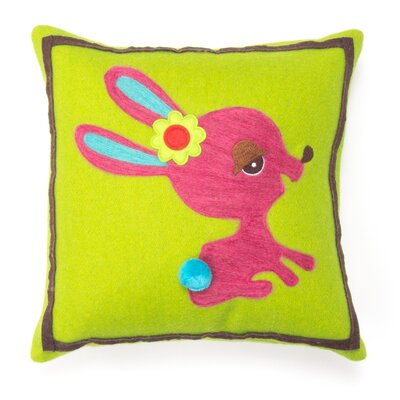 Bunny Wool Throw Pillow