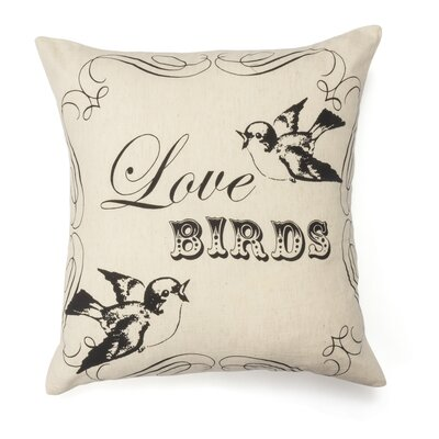 Love Birds Wool Throw Pillow