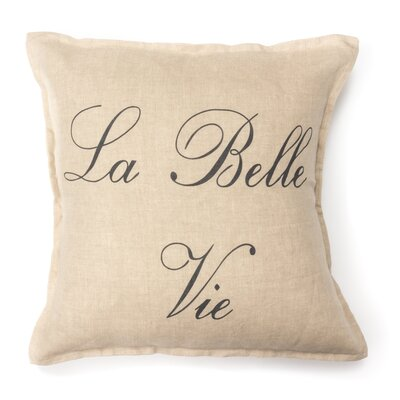 La Bella Vie 100% Cotton Throw Pillow