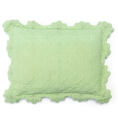 Charleston Small 100% Cotton Lumbar Pillow Color: Green