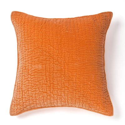 Evan 100% Cotton Throw Pillow Color: Orange