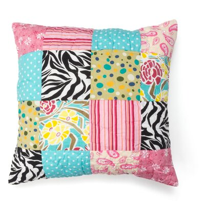 Zebra Stripe Patchwork 100% Cotton Throw Pillow
