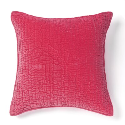 Evan 100% Cotton Throw Pillow Color: Pink