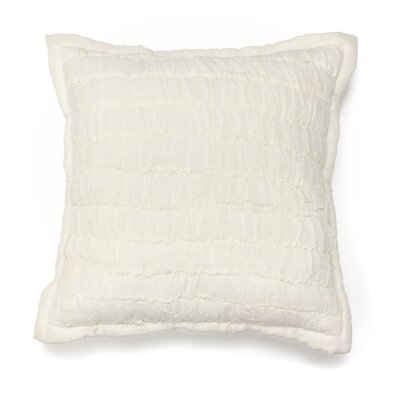 Ruched 100% Cotton Throw Pillow
