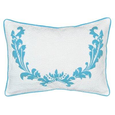 Delilah Small 100% Cotton Lumbar Pillow Color: Teal