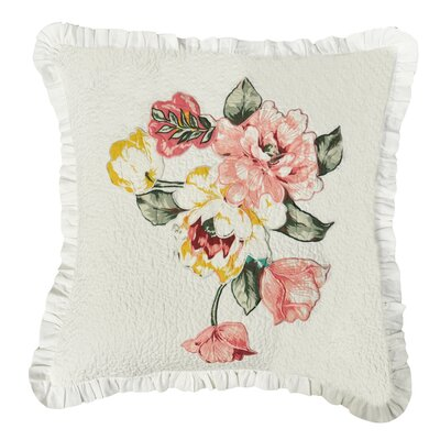 Annie Quilted Linen Throw Pillow