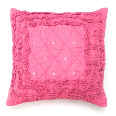Rosette 100% Cotton Throw Pillow