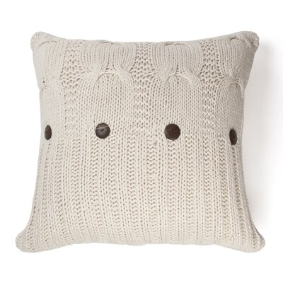 Micheala Cable Knit 100% Cotton Throw Pillow Color: Natural
