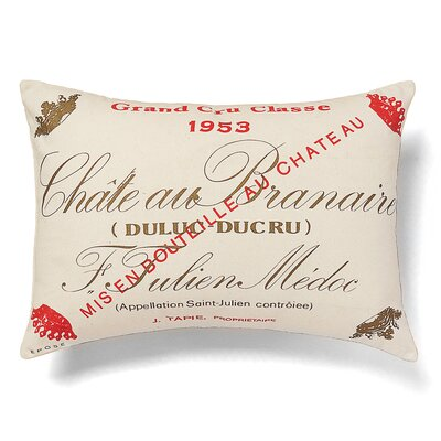 Chateau Branaire Cotton Lumbar Pillow