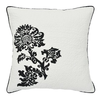 Cot De Rhone Cotton Throw Pillow Color: Black