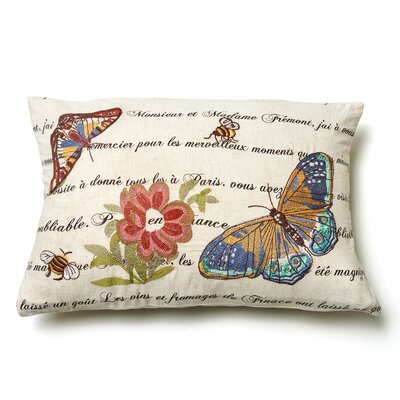 Marine Butterfly Wool Throw Pillow
