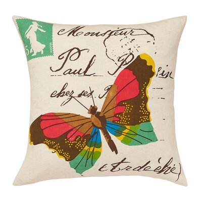 Yuma Butterfly Wool Throw Pillow