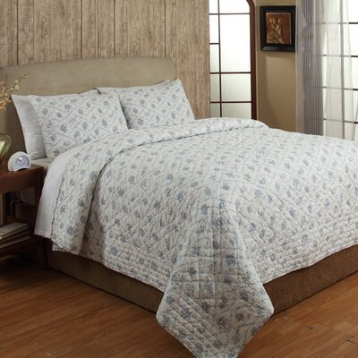 Toile 2 Piece Quilt Set Size: Queen