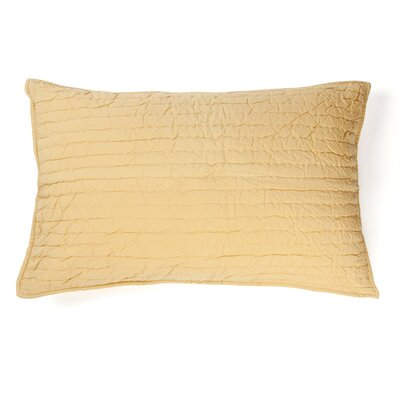 Brighon Sham Size: Standard, Color: Golden Yellow