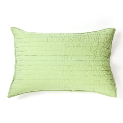Brighon Sham Size: King, Color: Light Green