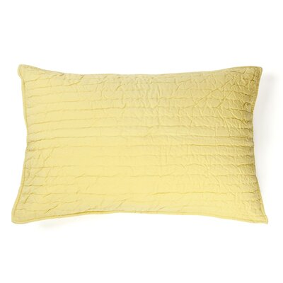 Brighon Sham Size: King, Color: Light Yellow