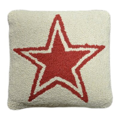 Star Decorative Wool Throw Pillow Color: Ivory