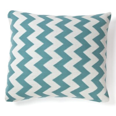Zig Zag Cotton Throw Pillow Color: Teal