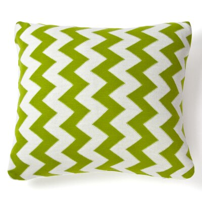 Zig Zag Indoor/Outdoor Cotton Throw Pillow Color: Lime Green, Size: 20 x 20